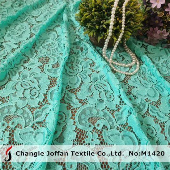 Textile Dress Material Nylon Lace Elastic Stretch Lace Fabric (M1420)