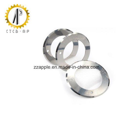Double Cutting Edge Tungsten Carbide Blade for Fabrics Cutting