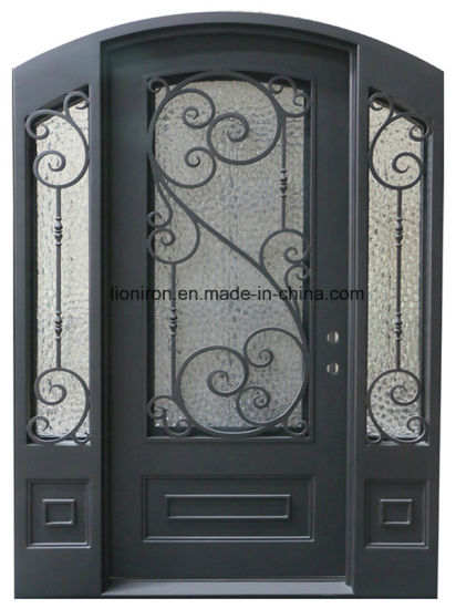 China New Model Safety Iron Entrance Gate Main Double Door Design