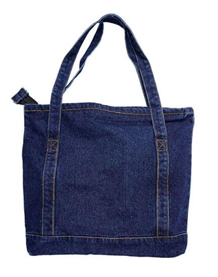 Canvas Tote Bag Shoulder Handbag Shopping School Travel Large Pockets