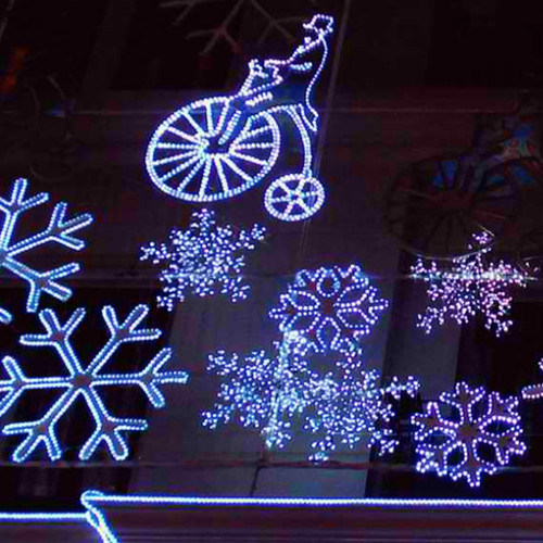 LED Snowflakes Light Rope Lights for Engineering Decoration Lights
