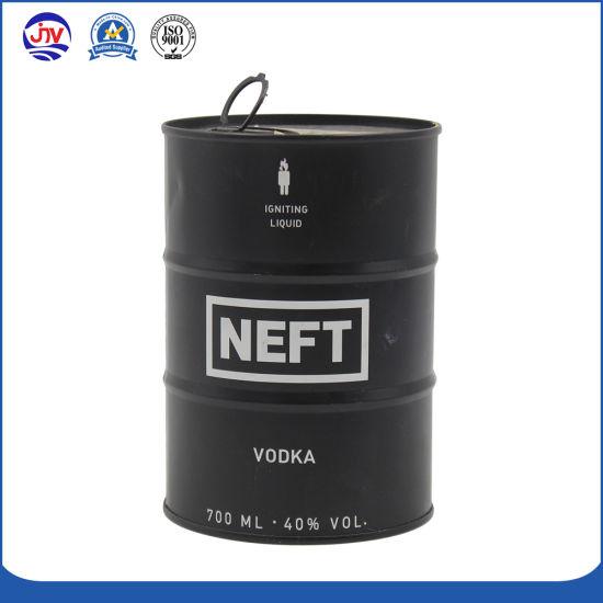 Wholesale Tin Can Liquor Bottle Can Barrel