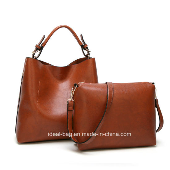 China Hot Sale PU Leather Ladies Handbag Set 2PCS - China Handbag ... 8f809b279382a