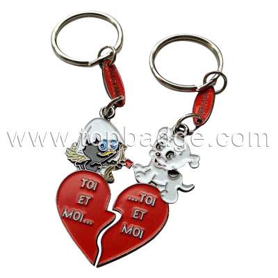 Custom Couple Soft Enameled Key Chain (FTKC1638)