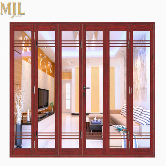 China Factory Price Latest Front Designs Aluminum Frame Glass Bifold