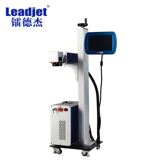 Leadjet OEM Continuous Industrial Fiber Laser Printer Marking Machine on Metal