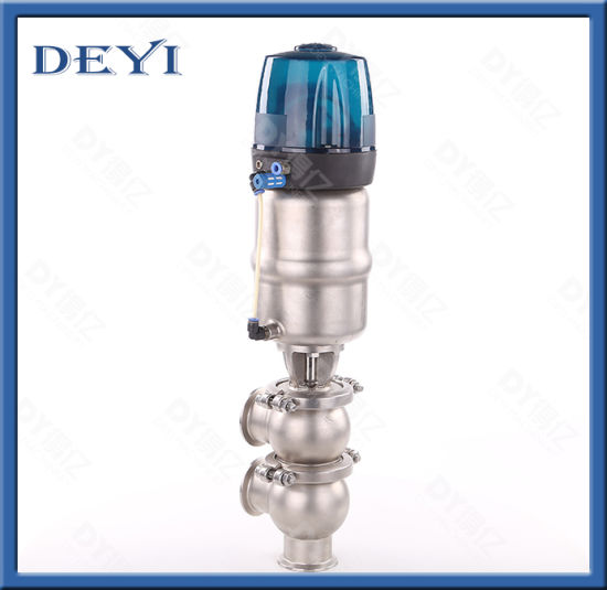 SS316L Stainless Steel Pneumatic Ll Type Reversing Valve with Control