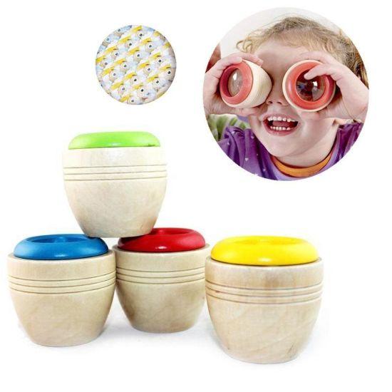 Wholesale Wooden Educational Mini Magic Kaleidoscope Children Kids Toy (GM-226)