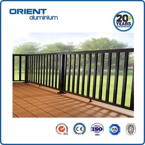 Modern Simple Design Handrail/Balustrade Made of Aluminium 6063-T5