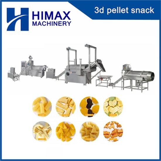 Automatic 3D Snack Food Processor Machinery Fried Pellet Screw Machine