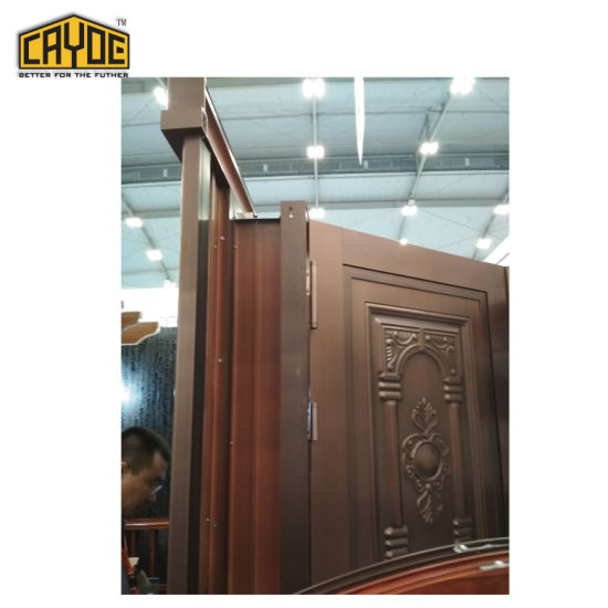 China Cayoe Luxurious Front Main Entrance Aluminum Doors Design