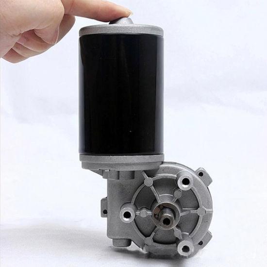 59mm 24 Volt DC Worm Gearbox Auto Door Generator Gear Motor
