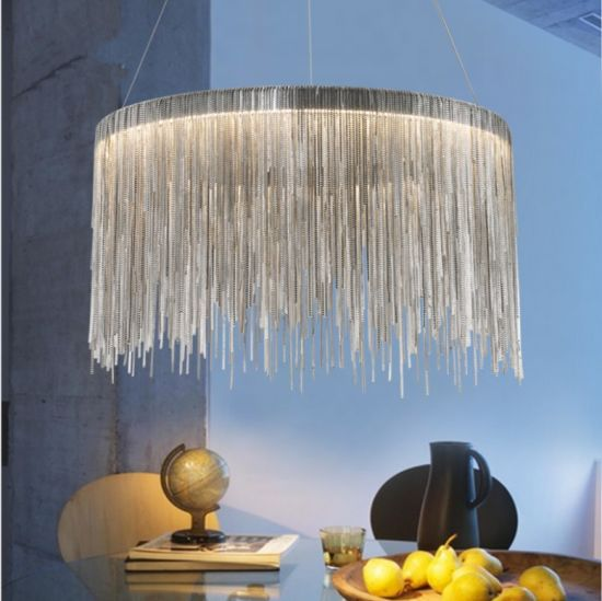 Round Chain Hung Chandelier Light Fixture for Home Lamp (WH-CC-14)