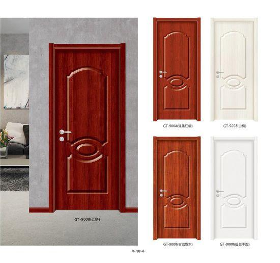 Hot Sale Melamine Wooden MDF PVC Panel Sliding Security Modern Interior Manufacturers Door
