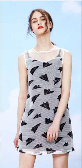 Wholesale Stock Original Design Wave Point Braces Dress for Women