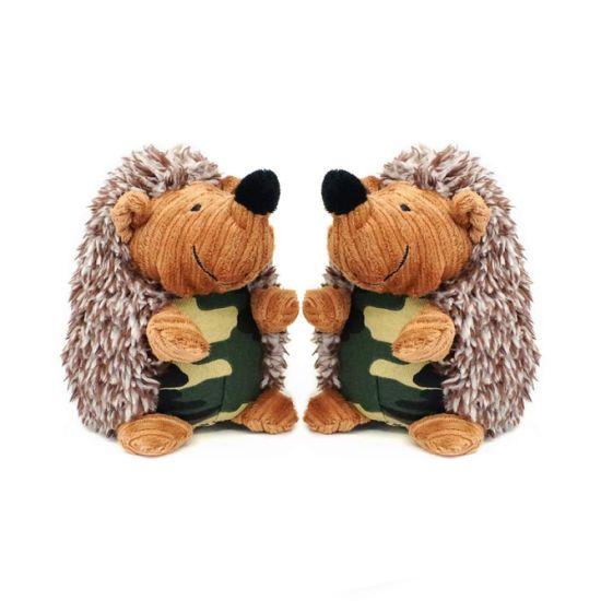 Stuffed Plush Hedgehog Animal Ce Squeaker Puppy Dog Toy