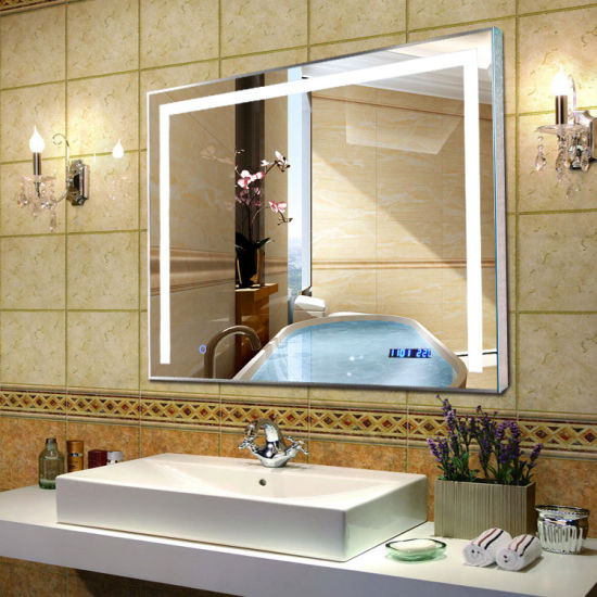 Wholesale IP44 Hotel Smart LED Light Bath Decorative Dimmable Light Mirror
