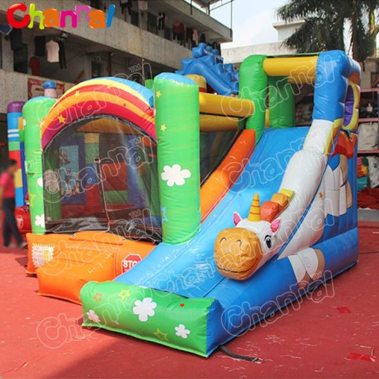 2020 Hot Sale Flying Unicorn Kids Inflatable Bouncy Castle for Sale Qb299-PVC pictures & photos