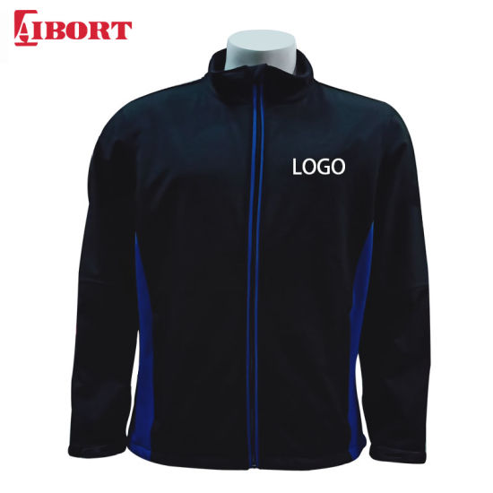 Aibort 100% Polyester Men Plus Size Breathable Softshell Jacket (SFJK-04)