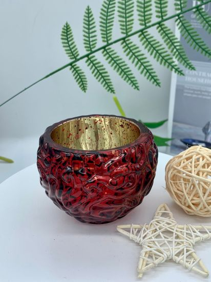 Wholesales High Quality Luxury Glass Candle Holder, Colors Customize Fashion Style Glass Candle Holder for Home Decoration