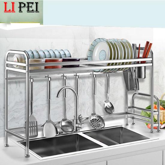 Over Sink Organizer Utensils Dish Drying Storage Baskets Stainless Steel Kitchen Rack China Dish Rack And Kitchen Rack Price Made In China Com