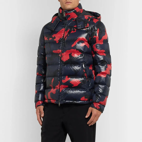 Loose Fit Allover Jacket Men's Winter Warm Hoodie Down Jacket