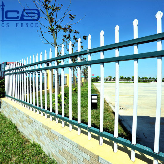 Hot Sale Wrought Iron Fence Panels for Sale / Galvanized Steel Fencing