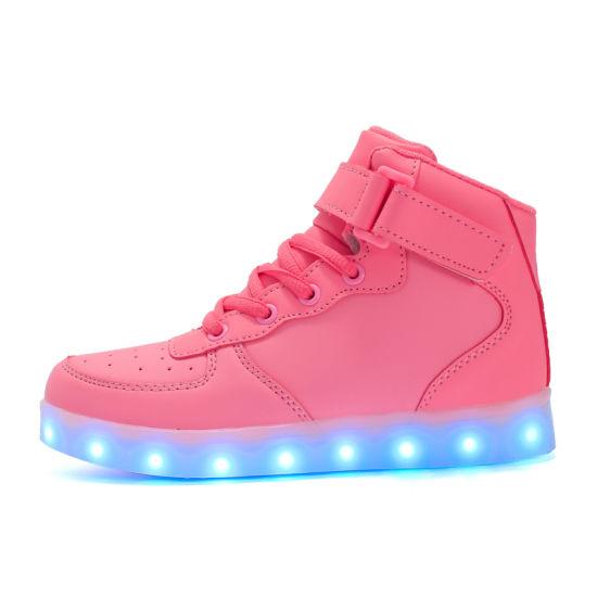 Wholesale Unisex Sneakers LED Light Shoes for Children Women Men