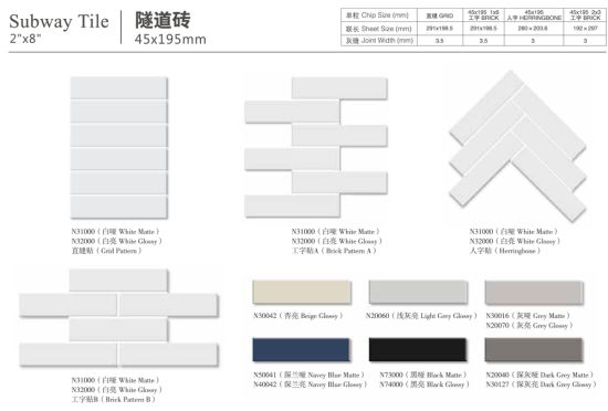 china guangdong durable kitchen strip brickbond porcelain mosaic matte white wall flat subway tile