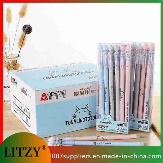 Wholesale Totoro Erasable Pen Set 0.38mm Blue Black Color Ink Writing Gel Pens School Stationery Supplies