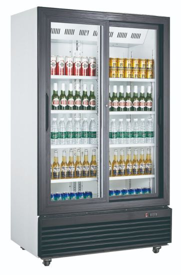 Sliding Door Upright Beverage Display Refrigerator Without Light Box (LG-1000SP)