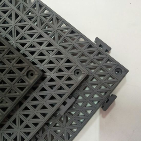 Waterproof PVC Ribbed Mat / Anti-Slip Remorable Interlocking PVC Garage Floor Tile