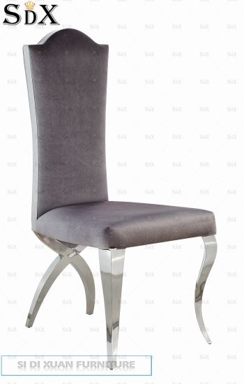 Hotel Use Stainless Steel Wedding Banquet Dning Chair