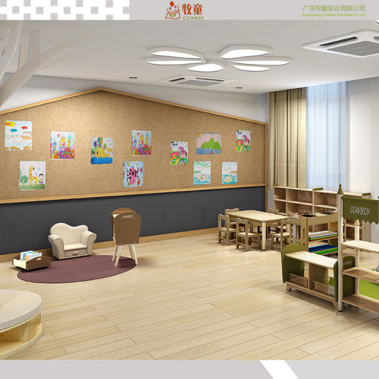 Combination Storage Cabinet Solid Wood Material for Preschool