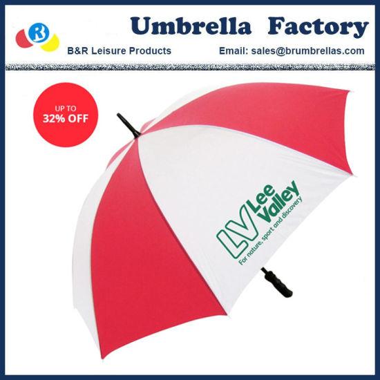 Custom Budget Golf Umbrella with Logo for Club Hotel Company