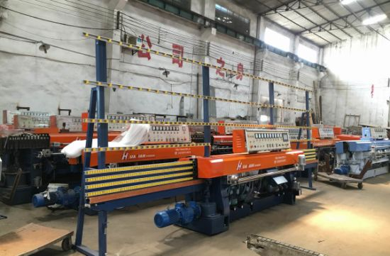 Automatic PLC 8 Spindles Glass Straight Line Edging / Edger Machinery