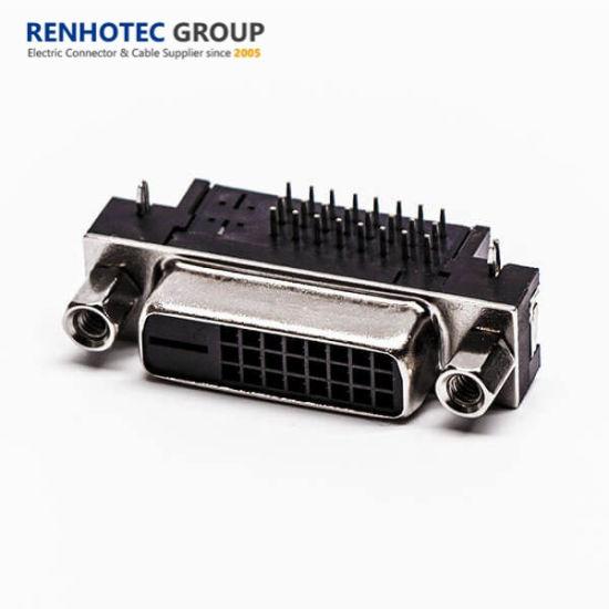 Black Color Insulator Material Lock Screw 24+1 Pinout DVI Adapter