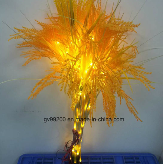 China Factory Wholesale Natural Led Wheat Grass Outdoor Christmas
