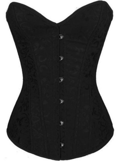 8587cd328 Women′s Bustier Corset Sexy Satin Brocade Overbust Waist Cincher Shapewear  Top. Get Latest Price