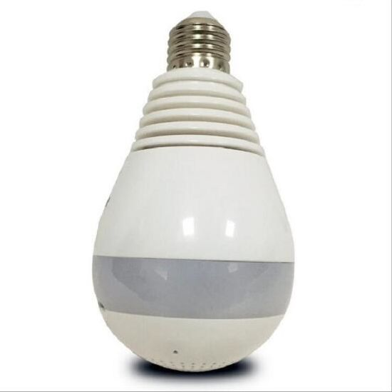 1.3MP 2MP Fish Eye Light Bulb Panoramic IP 360 Degree Camera Support SD Card