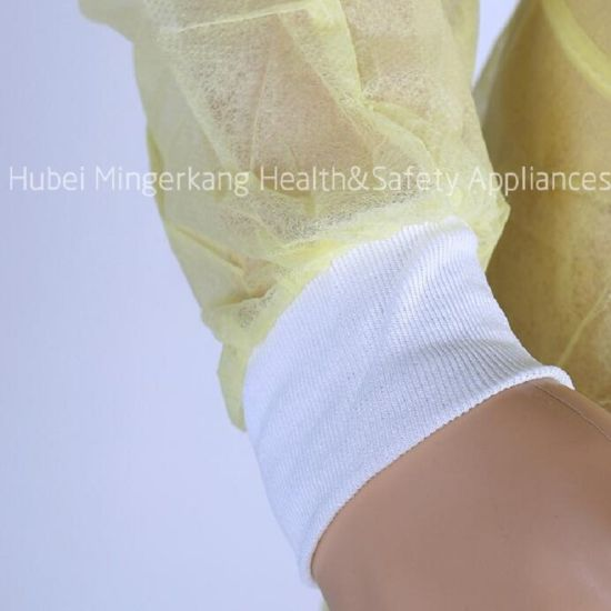 Non Woven Surgical Gown with Knitted Cuffs