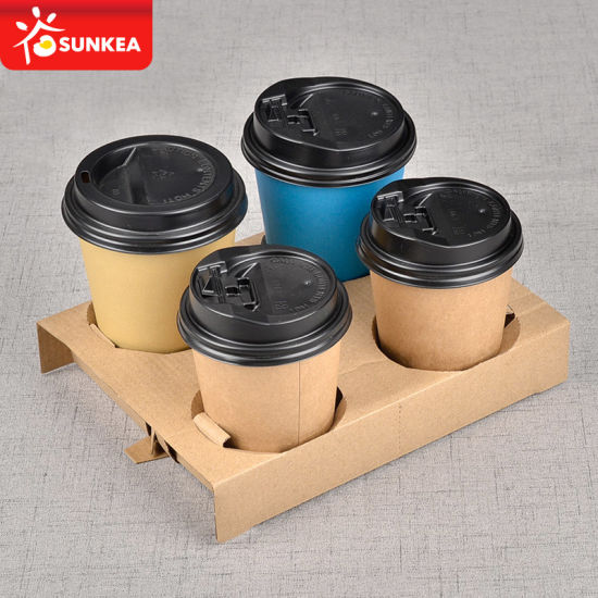 Disposable Paper Coffee Cup Tray