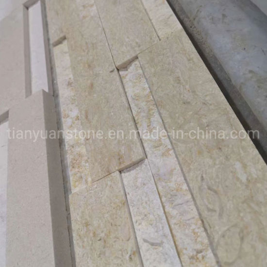 Sunny Beige Marble and Antacid Classic Ledge Culture Stone Feature Wall