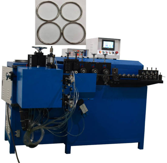 Automatic Metal Wire Ring Making Machine with Butt Welding Machine
