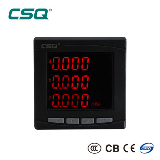 Three Phase 3 Wire LED Multi-Function Digital Power Factor Meter
