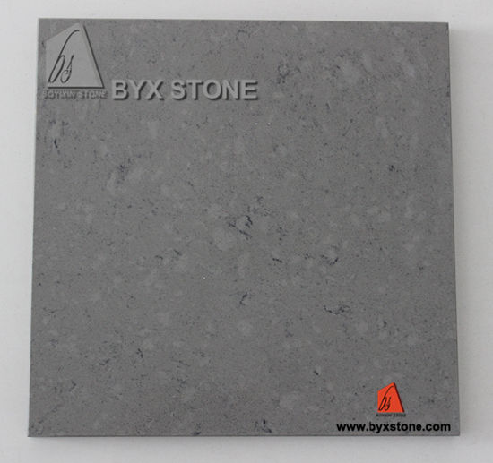 China Grey Artificial Stone Quartz With Veins For Countertop Floor