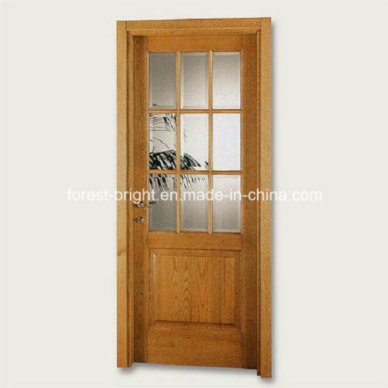 China 9 Lite Wood Single Glass Door Design China Wood Single Door
