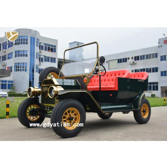 5 Kw AC Motor Electric Vintage Sightseeing Car
