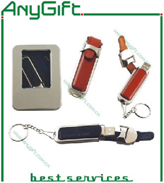 Leather USB Flash Drive with Embossed Logo 27 pictures & photos