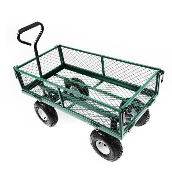 Mesh Foldable Heavy Duty Metal Garden Cart